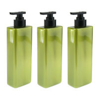 3x Plastic Refillable Empty Shampoo Shower Gel Lotion Pump Bottles 500ml