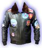 Tom Cruise Men's Top Gun Black Motorbike Leather Jacket with Fur Collar