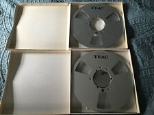 TWO (2) Teac RE-1002 Metal 10 inch Empty Take Up Reels with Box