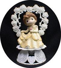 Birthday Quinceanera Bride Top Wedding Cake Topper Belle Disney Beauty and Beast