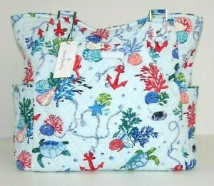 Vera Bradley Large Glenna Tote Anchors Aweigh NWT