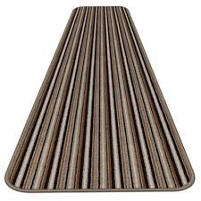 10 Ft X 36 In Skid Resistant Carpet Runner Mocha Brown Stripe Hall Area Rug