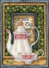 """Counted Cross Stitch Kit Make Your Own Hands - """"Tea collection: Green Melissa"""""""