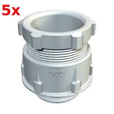 5x OBO Kabelverschraubung  M63x1,5 Ral 7035 grau 106M63PS / 106 M63 PS M63