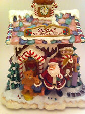 Fitz and Floyd santa railroad station musical candy lane musical Holiday Nib