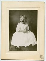 """Antique Photo - Little Girl - Hands Together - 6"""" x 8"""" - Ray Photographer - EVA"""
