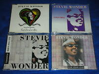lot 4 CD maxi STEVIE WONDER cold chill FOR YOUR LOVE tomorrow ROBINS WILL SING