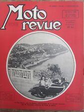 ANCIENNE REVUE MOTO REVUE N° 905 DECEMBRE 1947 CAP MARTIN SIDE CAR