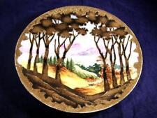 Antique C.1891 Noritake Maple Leaf Nippon Scenic Plate Gilding & Gold Jewels