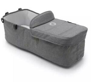 Brand New Bugaboo donkey 2 carrycot bassinet Grey Melange with apron