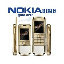 Phone Mobile Phone Nokia 8800 Gold Art White Luxury Gold 24K Umts Oled