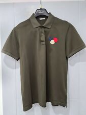Moncler Men's Polo Shirt Excellent Condition Dark Green Size Large