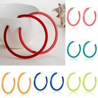 New Fashion Statement Geometric Big Circle Acrylic Hook Earrings Women Jewelry