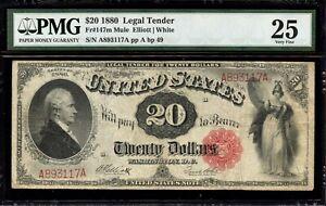 Fr. 147m - $20 1880 Legal Tender Mule - PMG 25