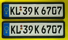 High Quality Embossed Car number plate (D Star) front n back with  starway Frame
