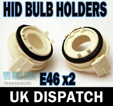 2 X Xenon BMW E46 E65 H7 HID Bulbs Adapter Holder fitting install pcs clips