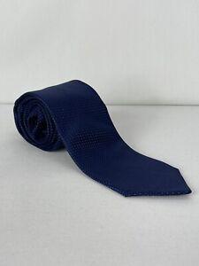 Calvin Klein Mens Reflective Dot Self-tied Necktie, Navy Blue One Size Designer