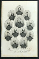 steel engraving Civil War vignette Union Generals Winfield Scott Hooker Hunter