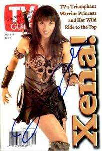 TV GUIDE 1997 - XENA - LUCY LAWLESS SIGNED AUTOGRAPHED COVER + COA - RARE