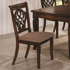 Brown Dining Side Chair with Decorative Seat Back by Coaster 103392 - Set of 2