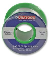 Lead Free Solder Wire 1.2mm 100g 227°C 18SWG - DURATOOL