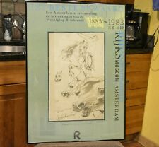 Original Horse Sketch Rijks Museum Exhibition Poster Amsterdam Anthony Van Dijck