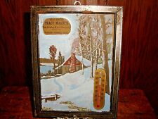 Vintage Advertising Thermometer Tracy Wagner Feed Grinding Berrien Springs MICH