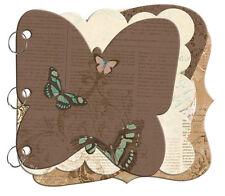 Bo Bunny Gabrielle Mini Edgy Butterfly Chipboard Album-6 Double Sided Pgs CBB070