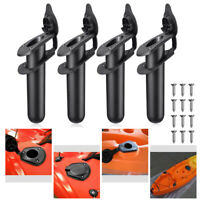 2X 4X Flush Mount Fishing Boat Rod Holder Bracket With Cap Cover For Kayak Pole