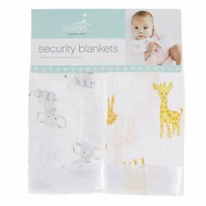 aden by aden + anais: safari babes: muslin/satin issie security blanket/comforte