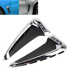 Chrome Side Body Marker Fender Air wing Vent Trim M Cover For BMW X5 F15 2014+