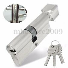 70mm Sliding Security Screen Home Door Lock Cylinder Thumb Turn Hardware + 3 Key