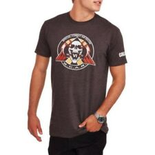 Call of Duty Men's Scar Emblem Graphic SS Tee T-Shirt in Charcoal Heather