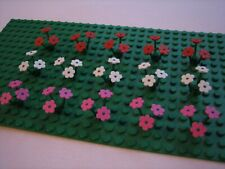 *New* 15 X Lego 3741 / 3742 Flowers Plants (60 Pieces) Red / White / Pink