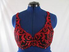 Secret Treasures Black Red Padded Underwire Demi Bra Women's 38C BR11