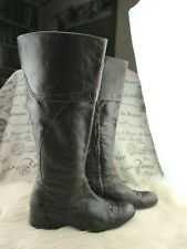 Apepazza Ghepardo Steampunk Tall Brown Leather Handpegged Boots Size 10 M