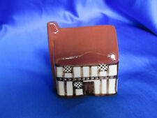 "English Mini Suffolk Cottage, 2 7/8"" Tall Made In England Nice Condition"