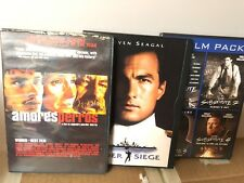 Lot of 3 Thriller Movies: Amores Perros/Under Siege + 4 Film Pack The Substitute