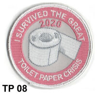 TP08 TOILET PAPER CRISIS 2020 PATCH IRON ON - STOCKING STUFFER - CHRISTMAS GIFT