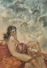 LOUIS ICART SIGNED COPPERPLATE ETCHING IN THE HAREM from LA SOPHA FRAMED