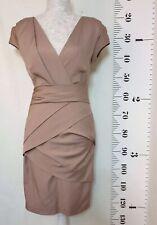 Reiss Dress   Size 8   Beige   Short Sleeve   Wiggle   Evening Formal Wedding