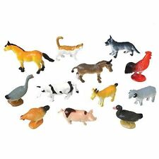 12 Farm Animal Figures Party Favor /Cupcake Topper  Chicken Rooster horse Turkey
