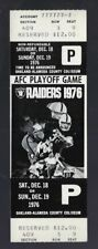 1976 NFL AFC DIVISIONAL PLAYOFF PATRIOTS @ RAIDERS FULL UNUSED FOOTBALL TICKET