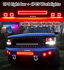 jhb-lighting CREE LED Bluetooth Chaser LED Light Bar + 4PCS 12W Work lights KIT