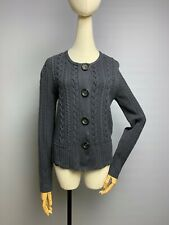 IRIS VON ARNIM 100% Cashmere Cardigan Sweater Size M Women's Cable Knit Buttons