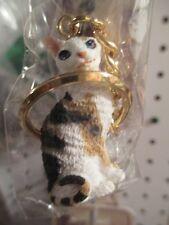 CORNISH REX TORTOISE WHITE   ~  CAT KEY CHAIN