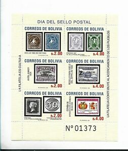 BOLIVIA 2005 STAMPS DAY PHILATELY STAMP ON STAMP 1 SOUVENIR SHEET MNH
