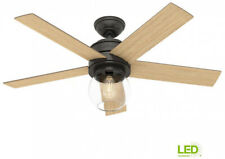 Hunter Leander Ceiling Fan 46 in. LED Indoor Noble Bronze Light Kit Remote