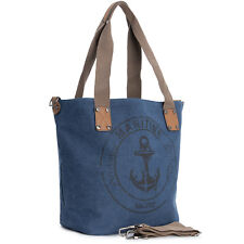 706e0e0f3a695 Damen Handtasche Anker Schultertasche Canvas Shopper Vintage Umhängetasche  62