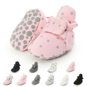 Baby Socks Shoes Booties Crib Shoes Cotton Comfort Soft Anti-slip Warm Boy Girl